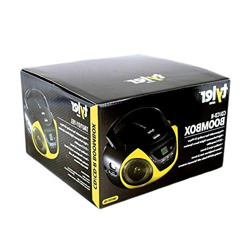 Tyler Stereo CD Player TAU101-YEL AM/FM and