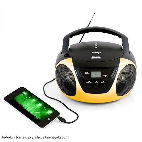 Tyler Portable CD TAU101-YEL AM/FM Radio &