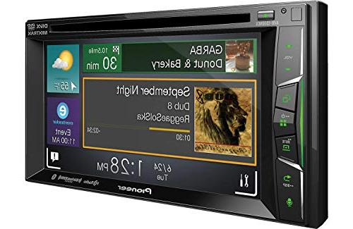 """Pioneer Receiver with 6.2"""" WVGA Display/Apple +"""