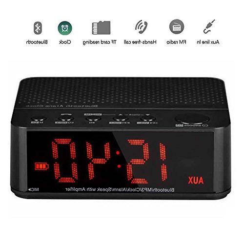 bluetooth alarm clock radio