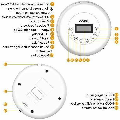 Bluetooth CD with Wired 3.5mm