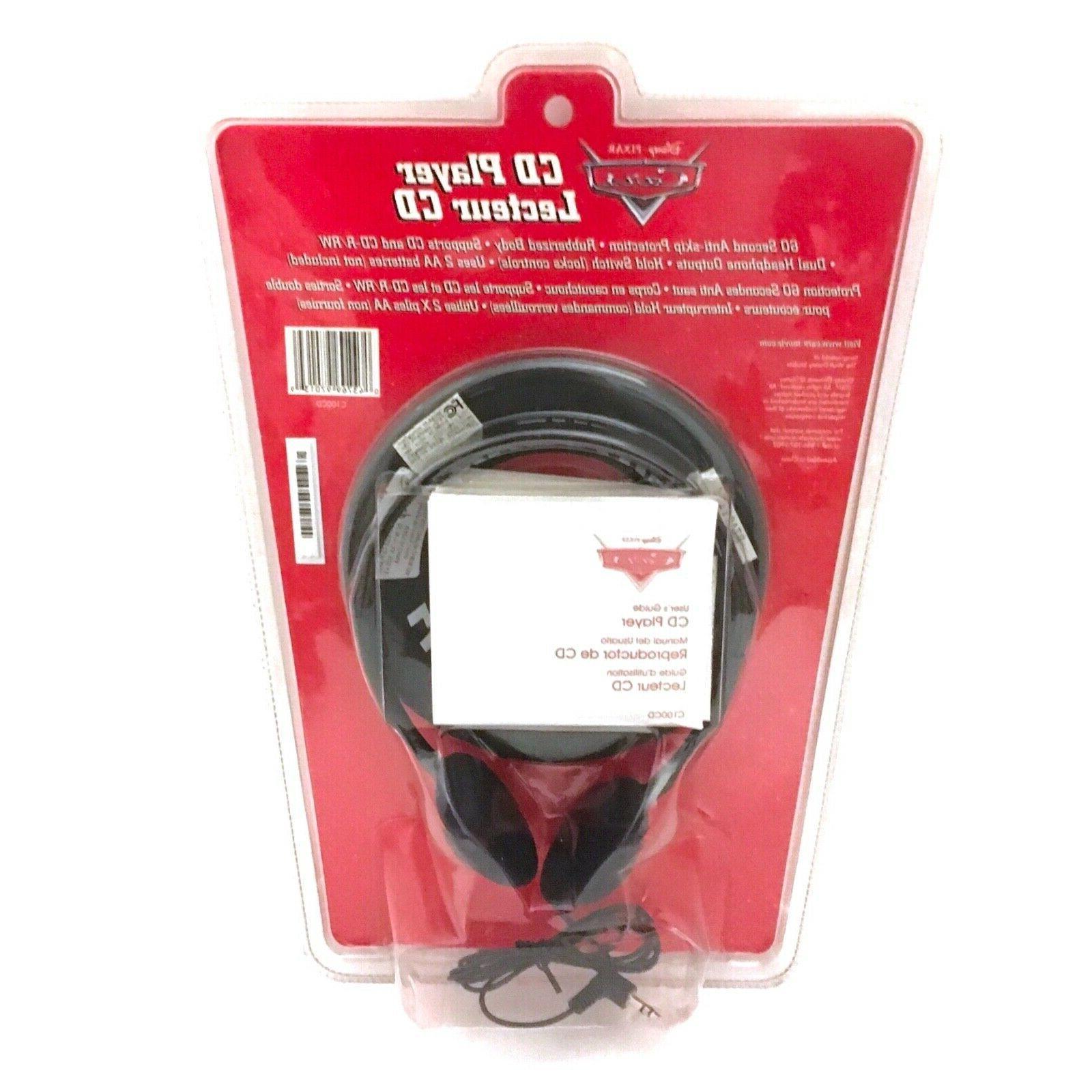 Disney Lightning Mcqueen Portable CD Player in Black