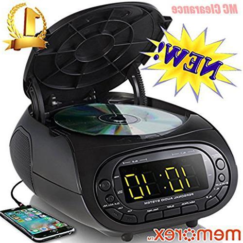 cd loading dual alarm clock