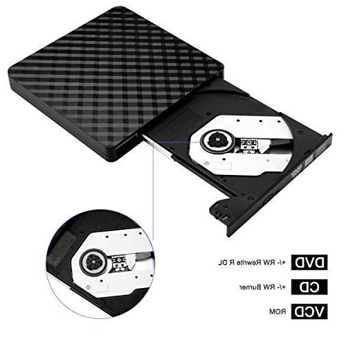 External DVD for Notebook, Desktop, Mac, 8/ Mac OS