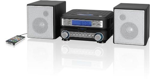 GPX HC221B Compact Player System FM Tuner