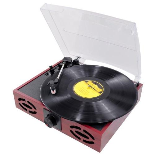 home durable reliable turntable black