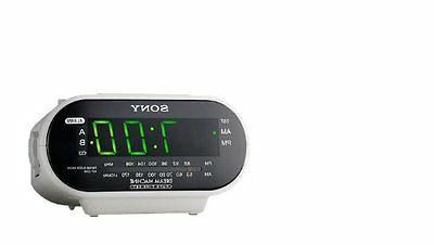 Sony ICF-CD814 AM/FM Stereo Clock Radio with CD Player, Whit