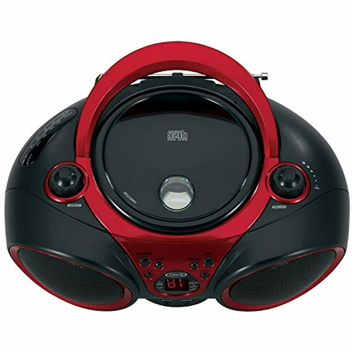 JENSEN CD-490 Portable CD Radio Red an