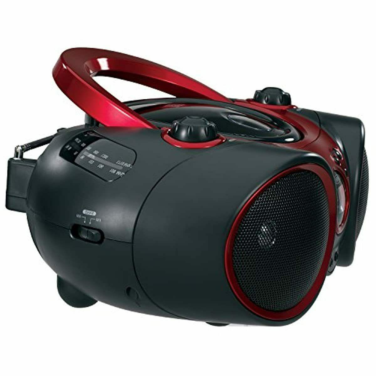 JENSEN Portable Radio Aux Red an