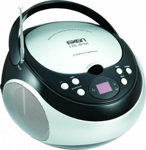 NAXA NPB-251BK Portable CD Player AM/FM Stereo Radio