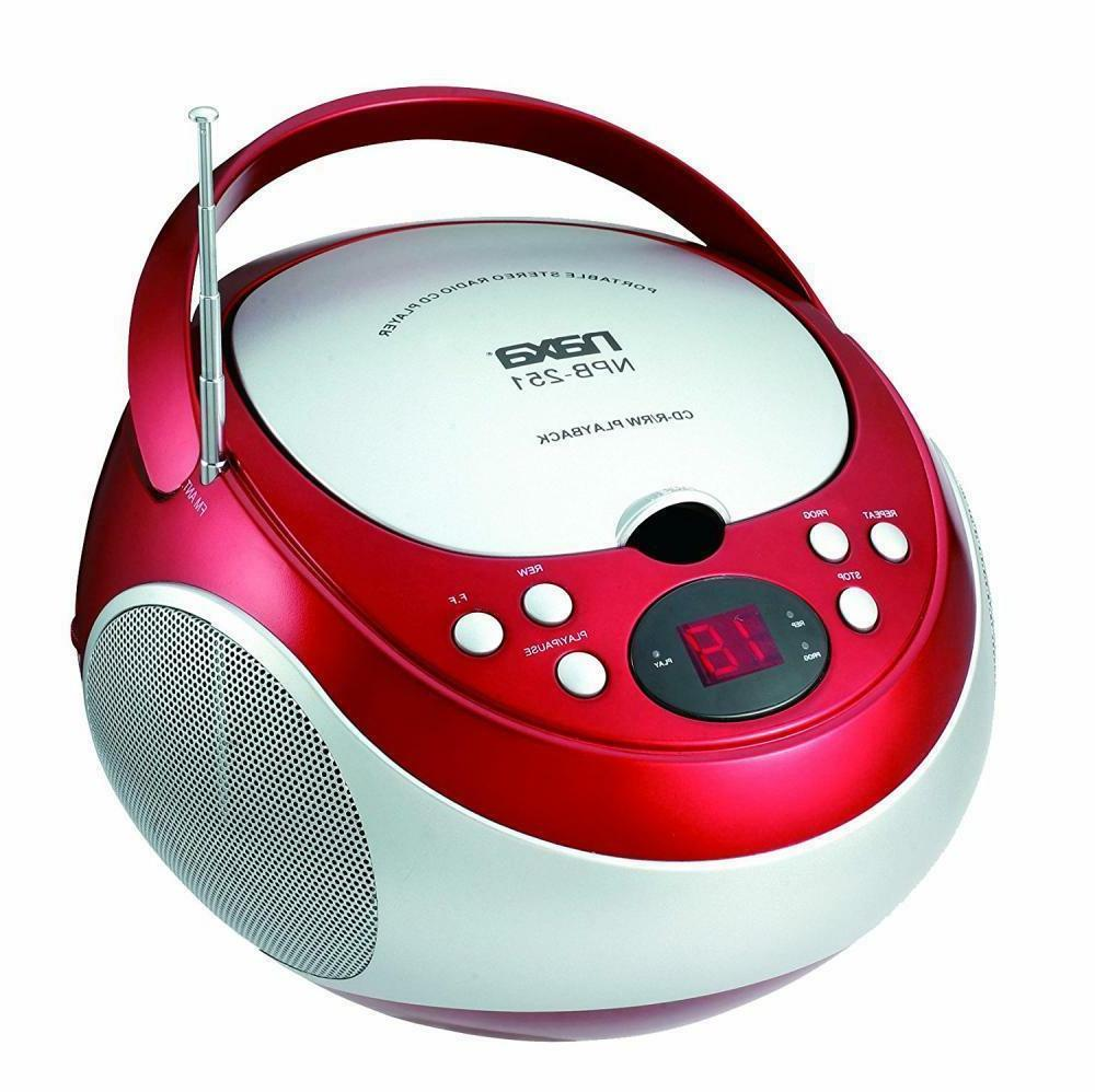 npb 251bu portable cd player with am