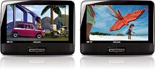 pd9016 dual portable dvd player