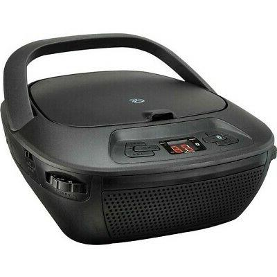 GPX Wireless Boombox BCB117B - 1 x Disc Integrated LED - CD-