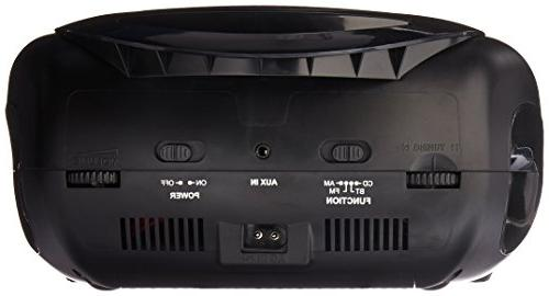 Sylvania Bluetooth CD Player Boom Radio LED Light