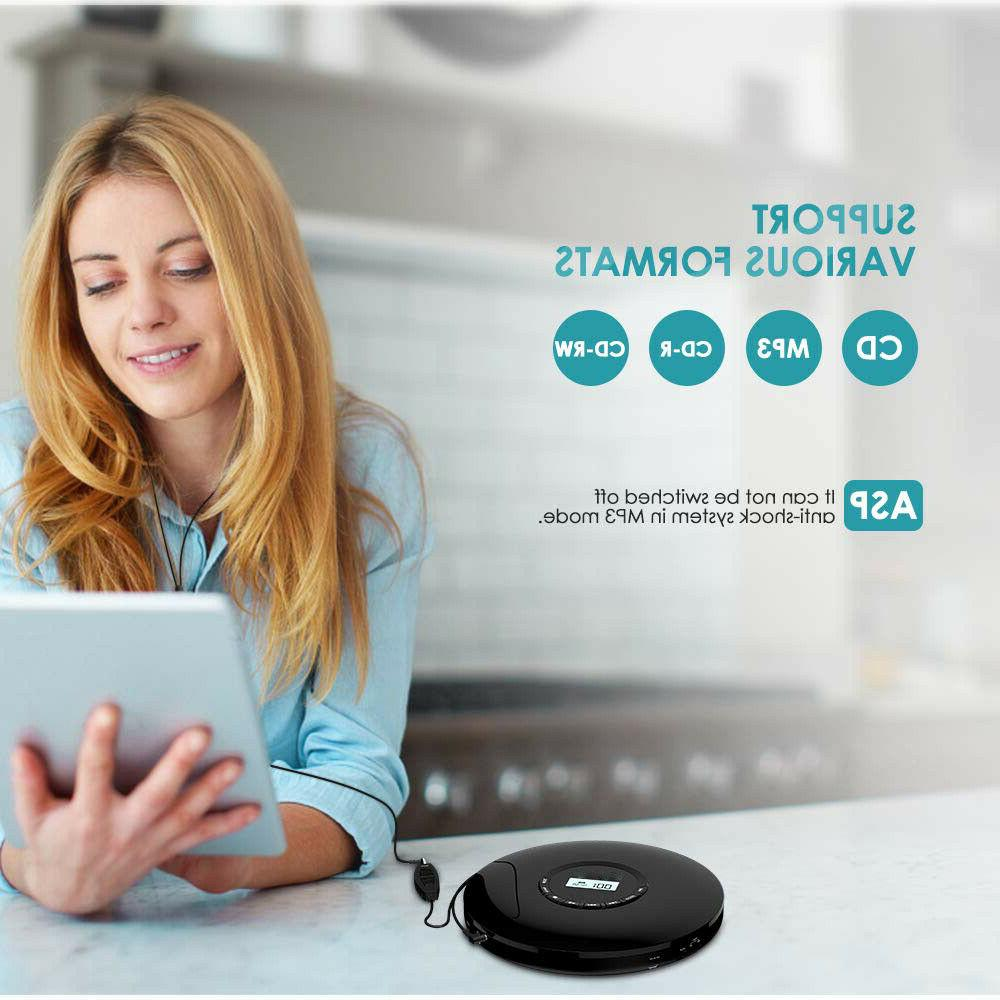 Portable CD Rechargeable CD Player LCD Display