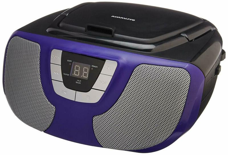 portable cd player boom box with am