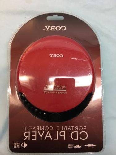 Coby Red Portable CD Player Bass New Packaging