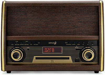 Retro Radio CD Aux-In Vintage Stereo System