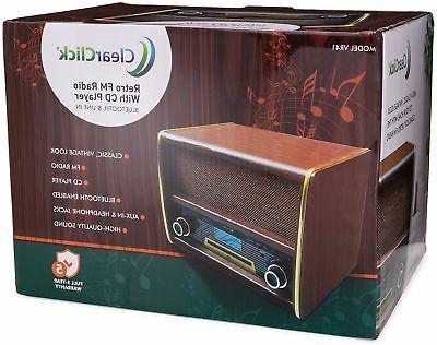 Retro FM CD Bluetooth, Aux-In Classic System