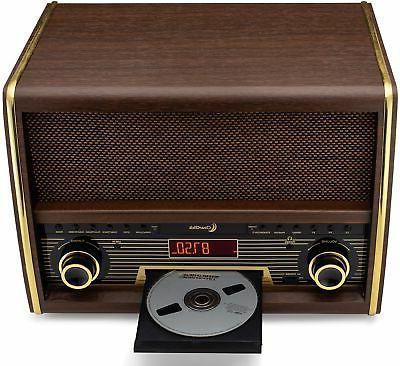 Retro Radio CD Player, Aux-In Classic System