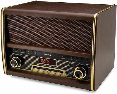 retro fm radio w cd player bluetooth