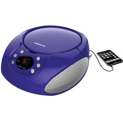 srcd261 b purple portable cd players