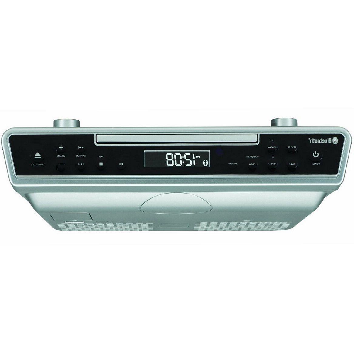 Under Counter Cabinet CD Player Bluetooth Kitchen Remote