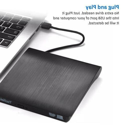 Portable 3.0 CD Burner Reader Player Laptop