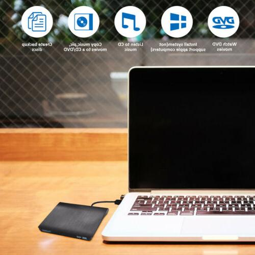 Portable Slim External USB 3.0 Burner Laptop