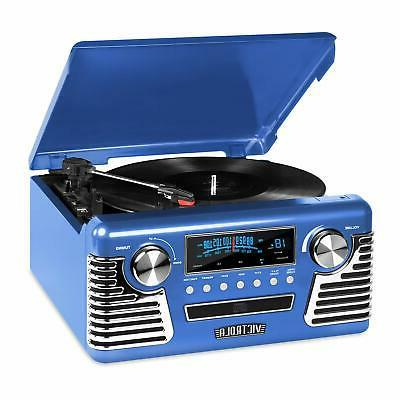 Victrola Retro Record Player With Bluetooth, Cd Players And