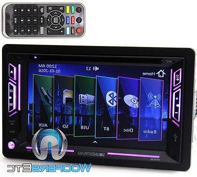 Soundstream VR-63B Double DIN Bluetooth DVD Car Stereo Recei