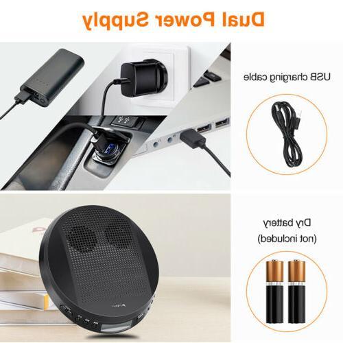 Walkman Portable CD Stereo Speakers USB+Headsets