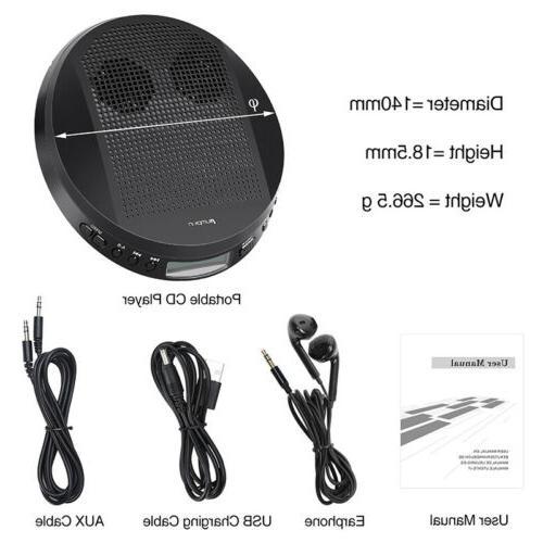 Walkman CD Stereo Anti-Skip USB+Headsets