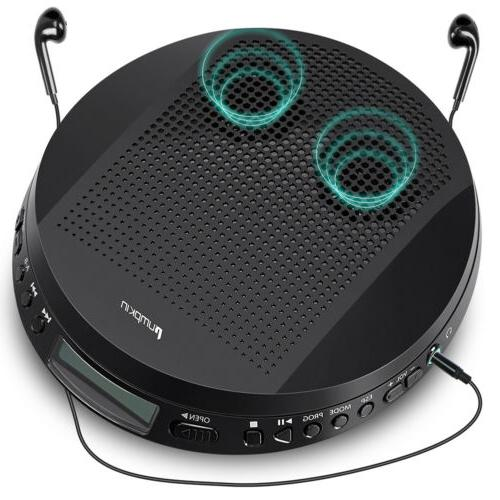 walkman portable cd player stereo speakers anti