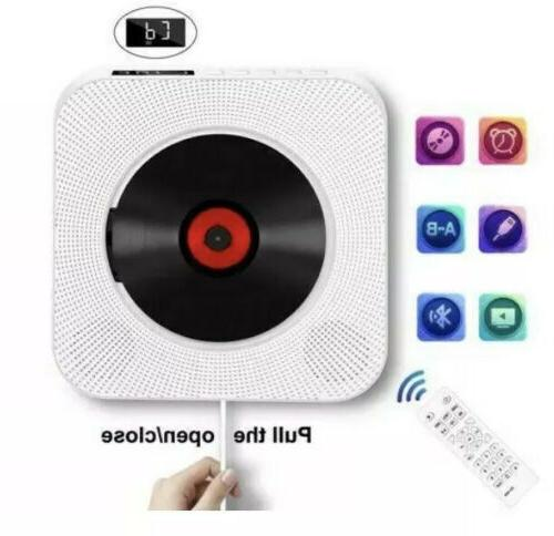Wall Mounted CD FM Radio bluetooth MP3 Music Player with Remote Control
