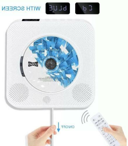 wall mounted cd player fm radio bluetooth