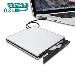 Dansrue Latest USB3.0 External CD DVD Optical Drive, Ultra S