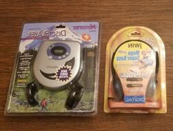Memorex MD3025 Portable CD Player w/ Jwin Headphones