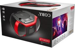 Coby MPCD-102-RED CD Cassette Radio Player/Recorder with MP3