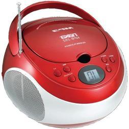 NAXNPB252RD - NAXA NPB252RD Portable CD MP3 Player with AM F
