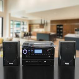 NEW Jensen 3-Speed AM/FM Turntable/Record Player/CD/Cassette