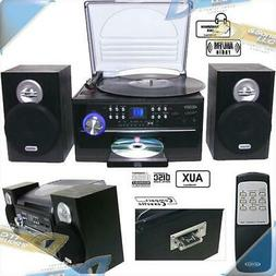 NEW Jensen 3-Speed Turntable Record Player with CD/Cassette/