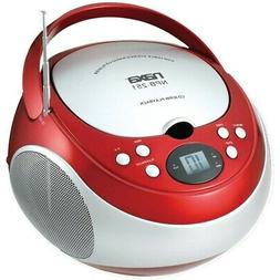 NAXA Electronics NPB-251RD Portable CD Player with AM/FM Ste