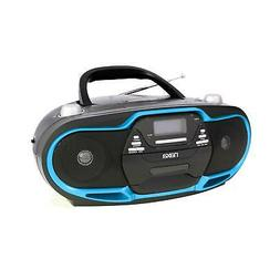 Naxa NPB-257 Black & Blue Portable MP3/CD Player, AM/FM Ster