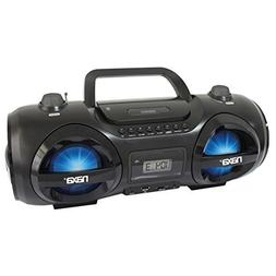 Naxa NPB-258 Party Boombox MP3 CD 3.5mm USB SD Player AM/FM