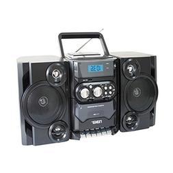 Naxa NPB-428 Portable Boombox AM/FM Radio MP3/CD Player & Ca