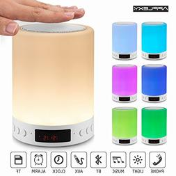 Night Light Bluetooth Speaker, AFFLEXY Touch Sensor Bedside
