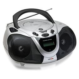 AXESS PB2706 Portable Boombox MP3/CD Player with Text Displa