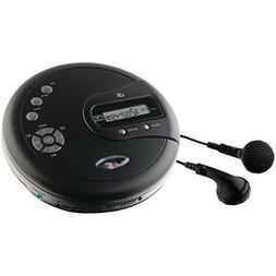 GPX PC332B Personal CD Player W/FM Radio & LCD Display Elect
