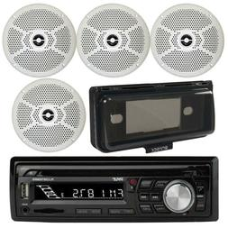 "PLCDBT65 Marine Boat Yacht  CD MP3 Player 4 X 6.5"" Speaker C"